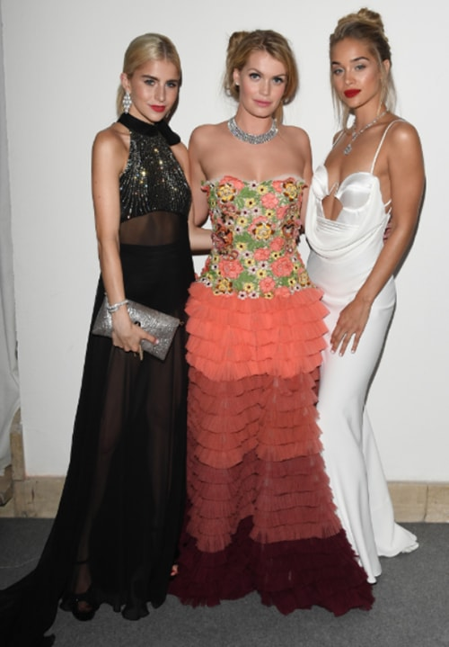 Stars shine in BVLGARI at the Amfar Gala dinner during the Milan Fashion Week